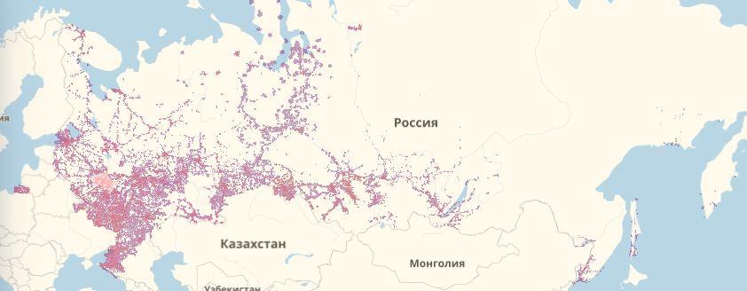 Карта покрытия теле2 пензенская область